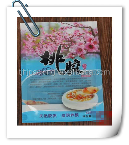 Bird's nest, peach and other Chinese medicinal materials plastic packaging bags