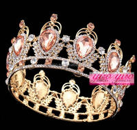 top sale luxurious baroque style gold wedding bridal alloy crowns