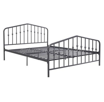 City Block 3ft Single White Modern Metal Bed Frame With Sprung Base ...