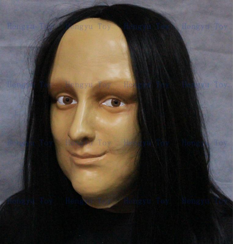 Female Face Mask Latex Fancy Dress Halloween Costume Living Doll Crossdresser N