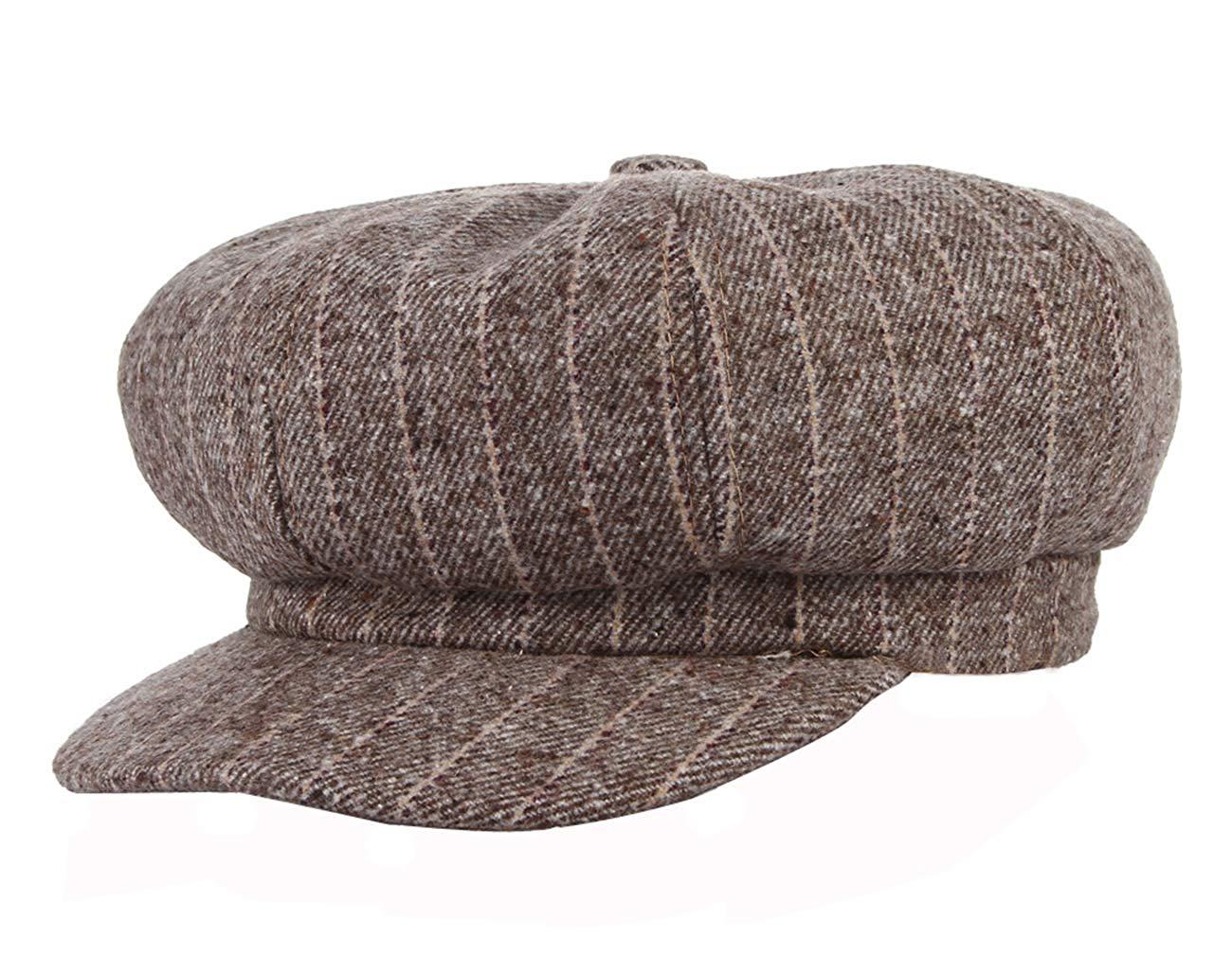 e6d690003febd Get Quotations · Gemvie Women s 8 Panel Striped Newsboy Hat Ladies Classic  Octagonal Baker Boy Hat Cap