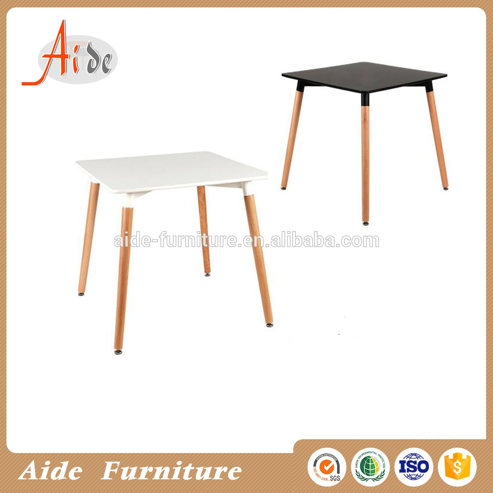 Simple design modern appearance square high glossy dining table