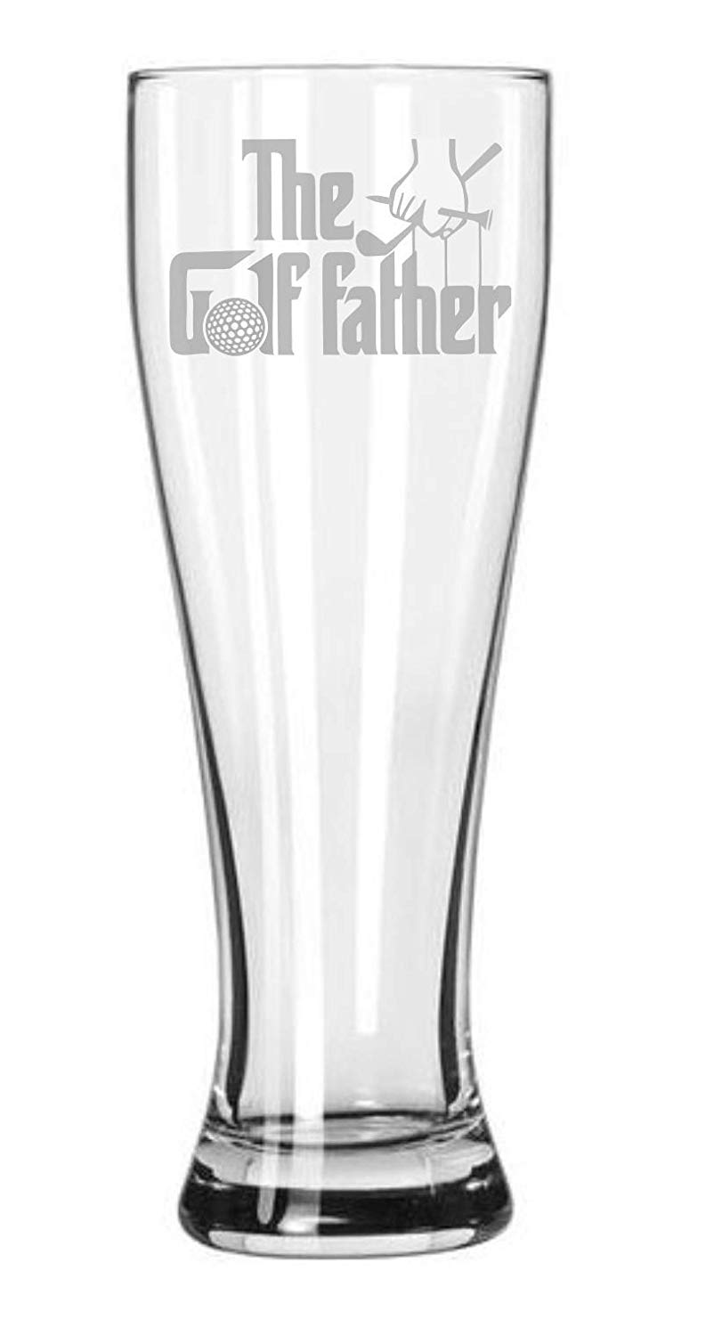 Get Quotations The Golf Father 23 Oz Beer Glass Gift For Golfer Funny Birthday Gifts
