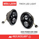 quality guarantee 7 inch led white halo round headlights for jeep wrangler jk / yj / unlimited
