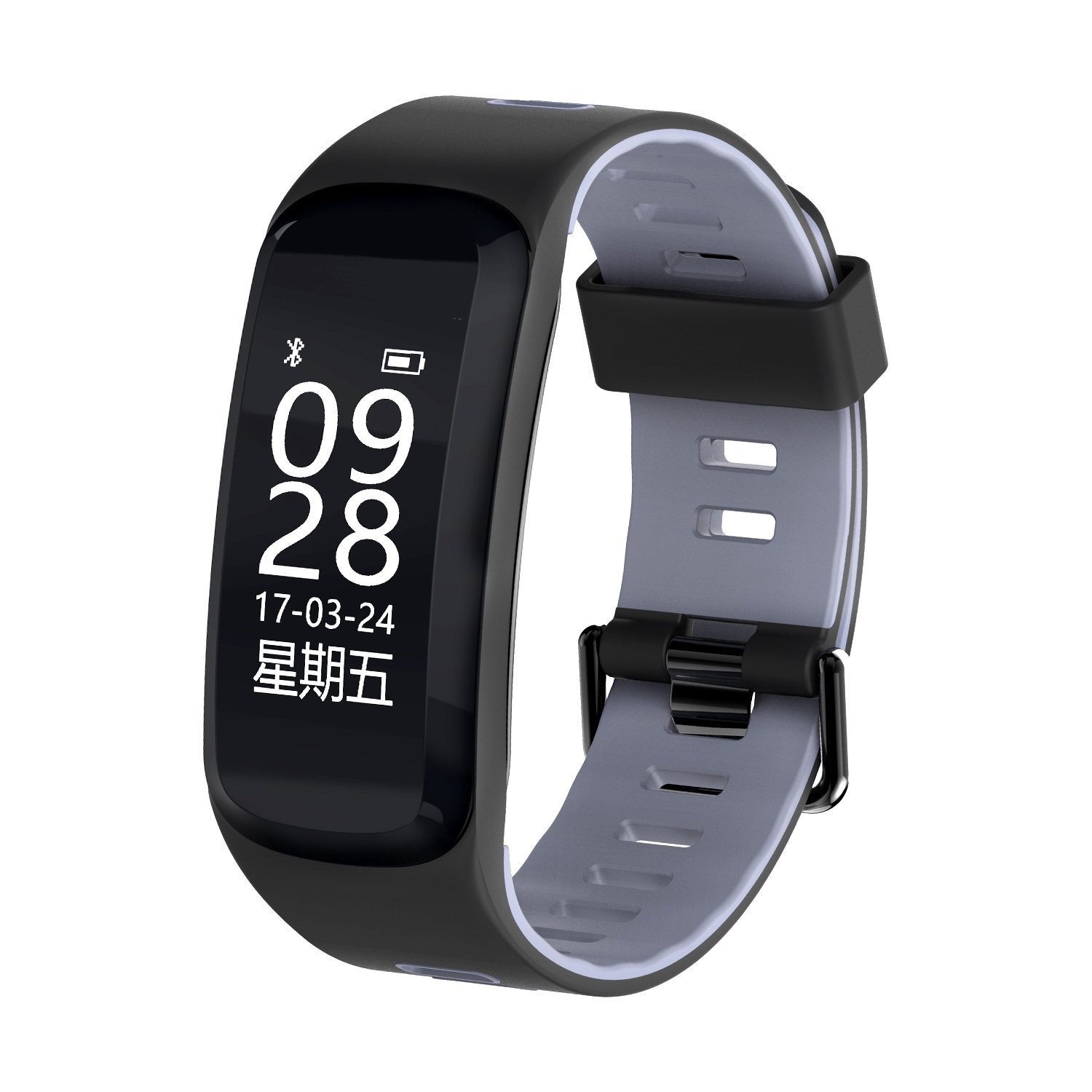 GIMTVTION F4 Fitness Tracker ,Pashion Bluetooth 4.0 Heart Rate Monitor Watch Step Walking Sleep Counter Wireless Smart Wristband Pedometer Waterproof Sports Bracelet for IOS Android System