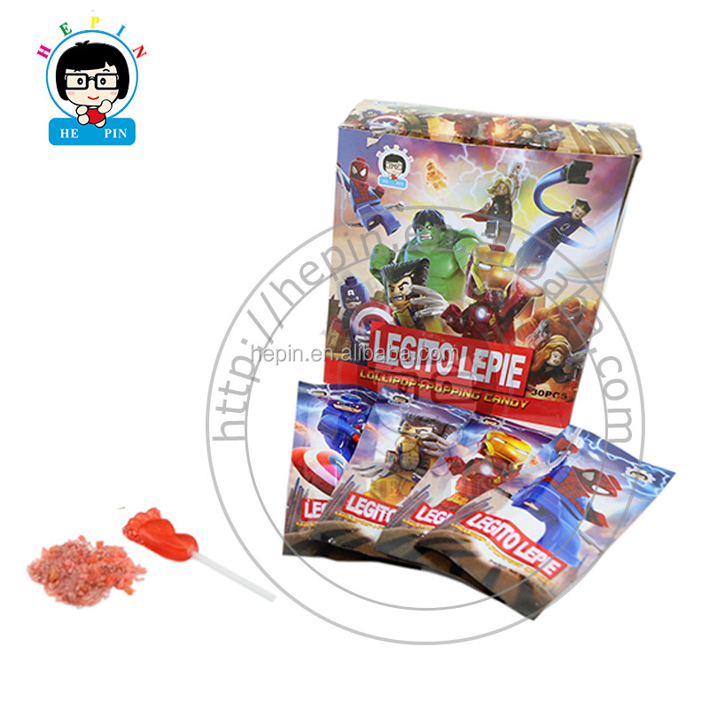 Fuß Form Lollipop Starke Popping Candy Obst Flavour Rock Candy