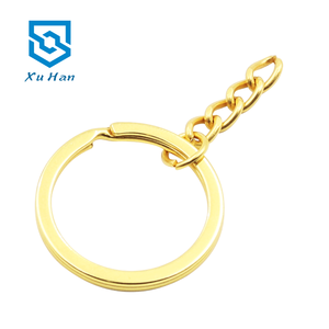 Factory direct sale, Various specifications high quality metal customizable LOGO split key ring with chain