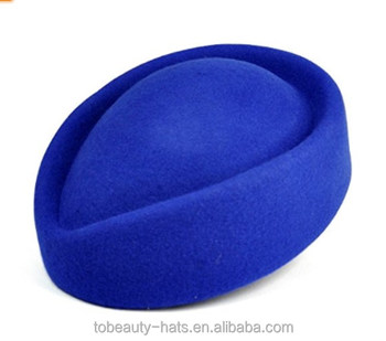 Custom logo Topro Wool Felt Pillbox Stewardess Air Hostesses Beret Hat Bucket Hat