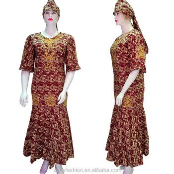 b495e67700b FS72519 traditional print wax cotton fishtail long maxi dress for women  wholesale