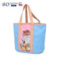 BOSHINE wholesale lovely flower print handbag for lady ladies animal print handbags handbags for women