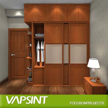 Indian Designs Cheap Wooden Sliding Door Wardrobe Armoire