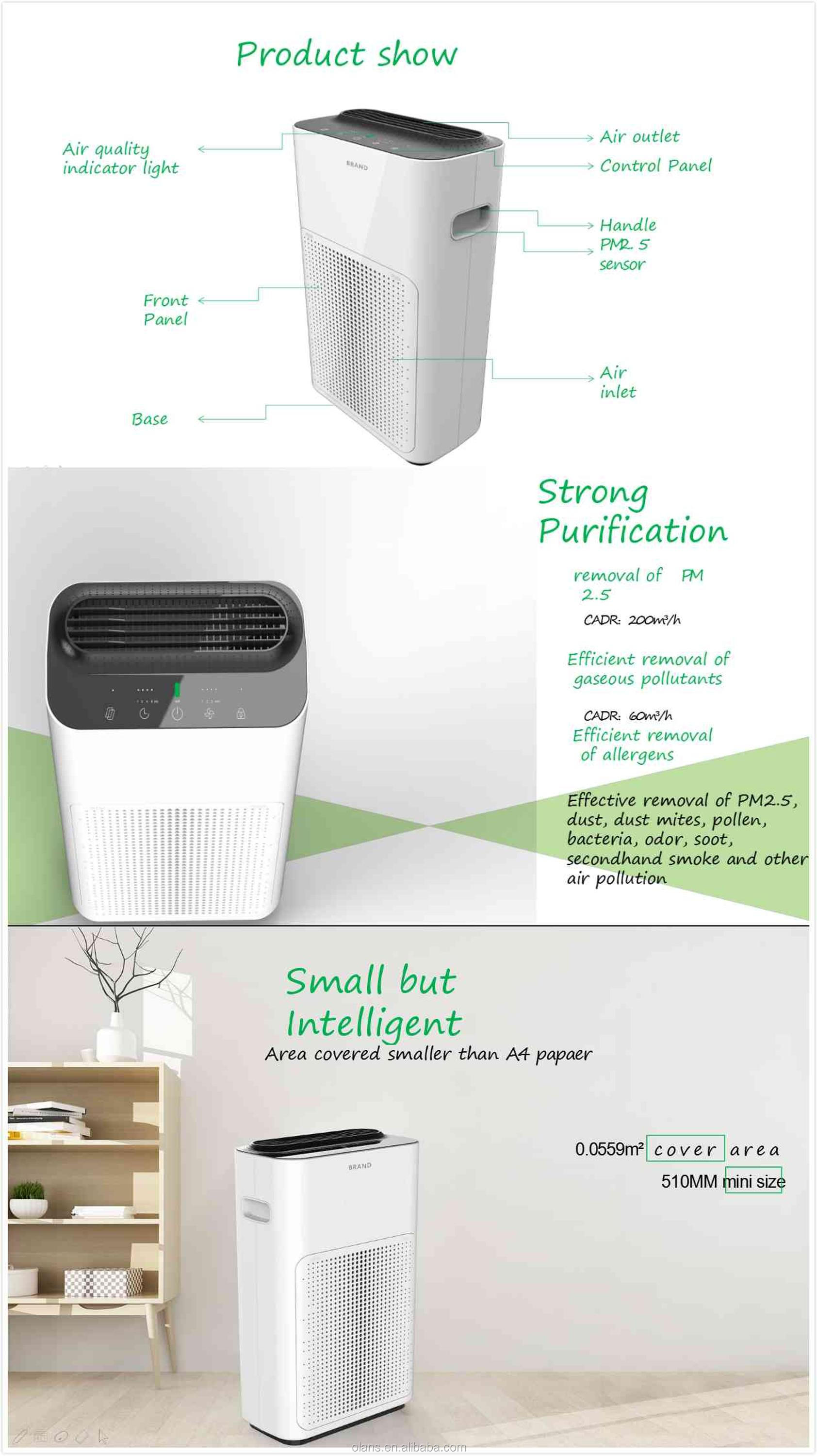 2019 new design smart house use air purifier filter air purifier 220v for living room dining room baby room