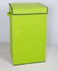Woven Fabric Collapsible Sturdy Laundry Basket Folding Dirty Laundry Hamper, Decorative Foldable Clothes Box with lid