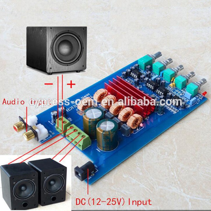 2 1 Channel Home Audio Subwoofer Digital Power Amplifier Circuit Pcb Board  / Module Dc 12v -25v 50w+50w+100w New Product - Buy 2 1 Channel Amplifier