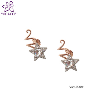 Vicacci Twinkle Earrings with Swaroiski Crystal