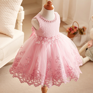 Kids Little Girls Party Boutique Clothing Princess Tulle Dresses Lace Ruffle Tutu Dress For Children