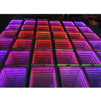 Wedding Disco DJ Party Mirror 3D Infinity Led Light Dance Floor Panel