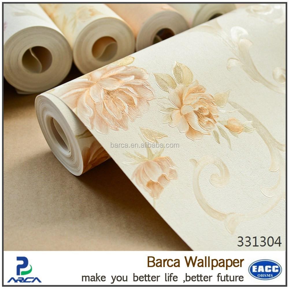 Salle De Bain Achat Et Pose ~ Romantique Rose Fleurs Motif Lavable Papier Peint Pour Salle De