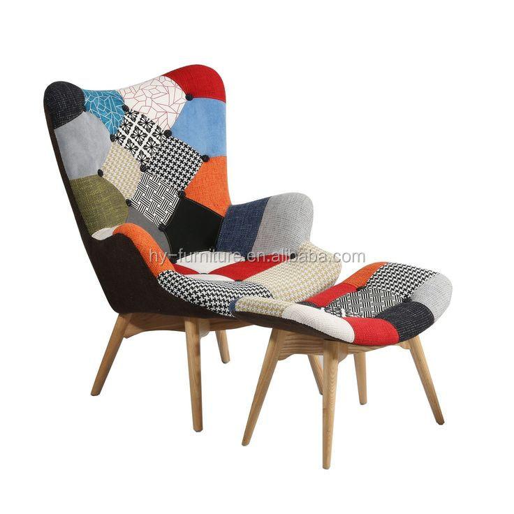उच्च गुणवत्ता आरामदायक कमरे में रहने वाले फर्नीचर आधुनिक Reclining विंग कुर्सी/कपड़े कवर अनुभागीय सोफे चरणों की चौकी के साथ