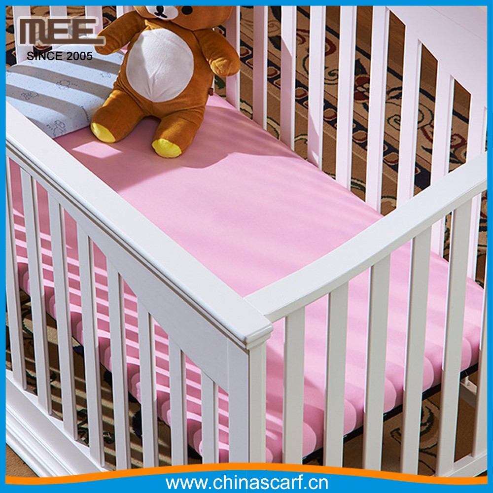 alibaba custom size pink Eco-Friendly baby Bed sheets cotton