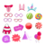 New Products 2018 Assorted Handmade Baby Photo Booth Props for Party Decoration
