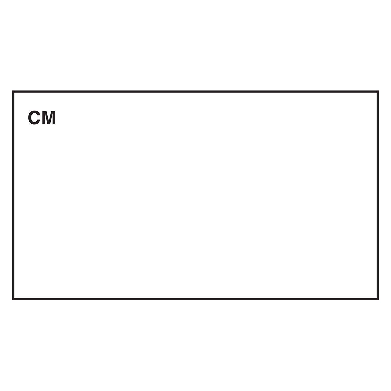 DayMark Date Coder Blank Freezable Label, for DM3 SpeedyMark 10 1-Line Marking Gun, White (8000 Lables)