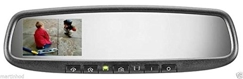 """Gentex RCD Mirror Auto Dimming Mirror With 3.3"""" Rear View Screen, HomeLink & Compass"""
