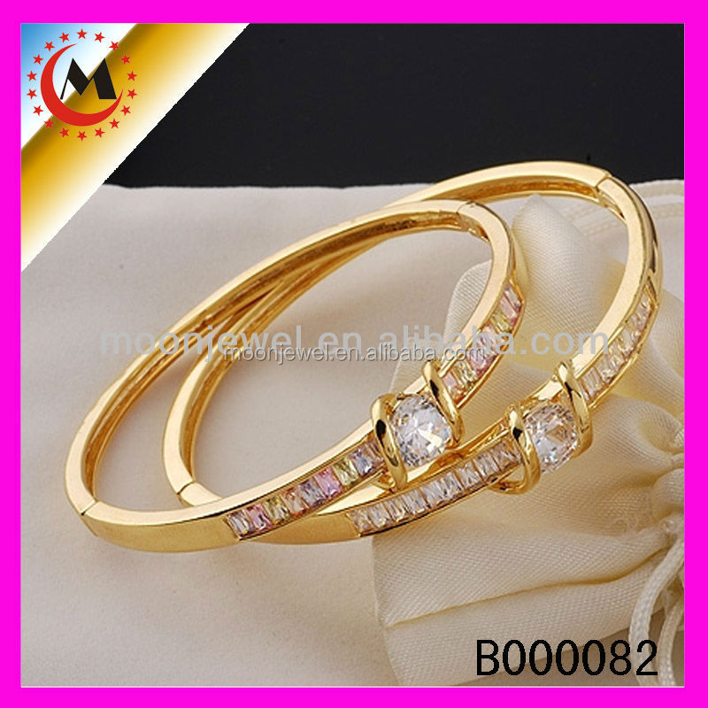 Copper Material Light Weight Gold Bangle For Couple,24k Gold ...