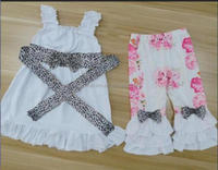 CONICE NINI brand Unique Wholesale Baby Girl Outfits New Baby Girl Floral with Lace Dress and Ruffle Pant Outfits