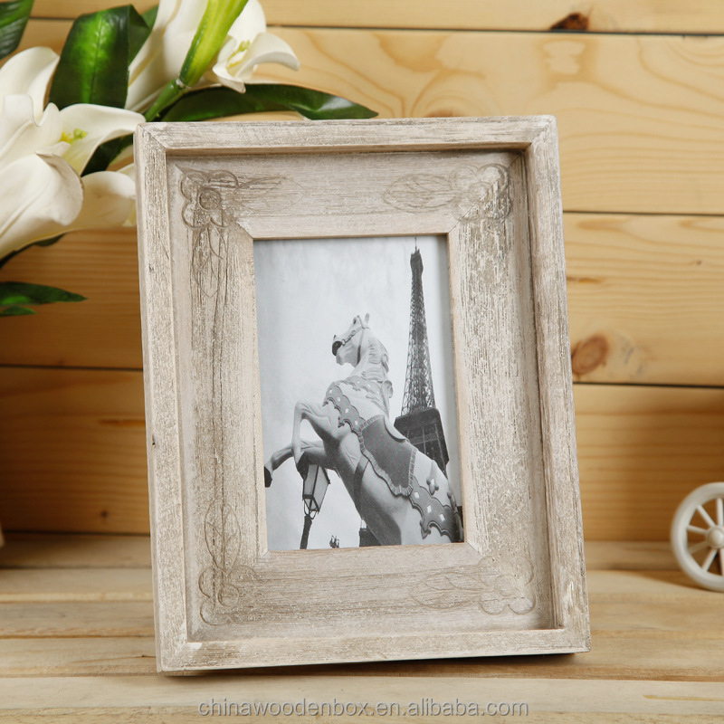 2015 antique paulownia style Wooden photo frame