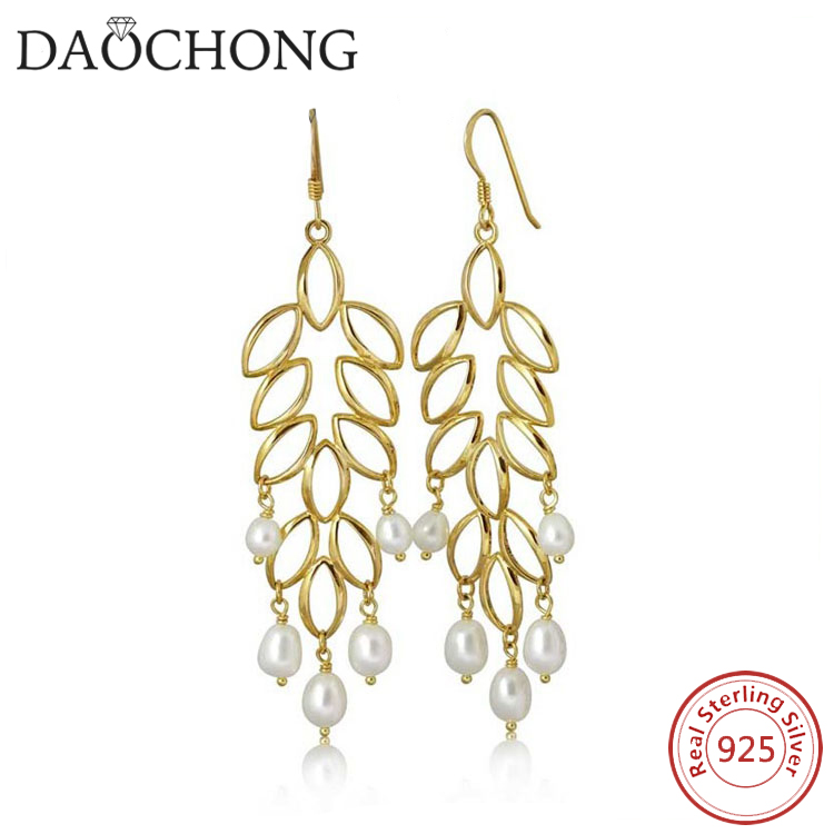 18k gold plated earring fashion pearl jewellery bangkok