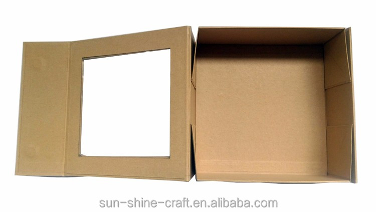 Collapsible kraft paper box for packing and display