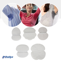Comfortable female using detachable cooling 125mm 200pcs China OEM disposable underarm pad sweat pads armpit pads stickers