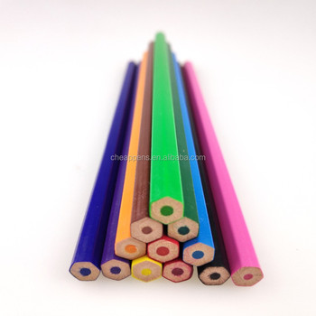 12/18/24pcs colored set round/hexagon/triangle available color pencil
