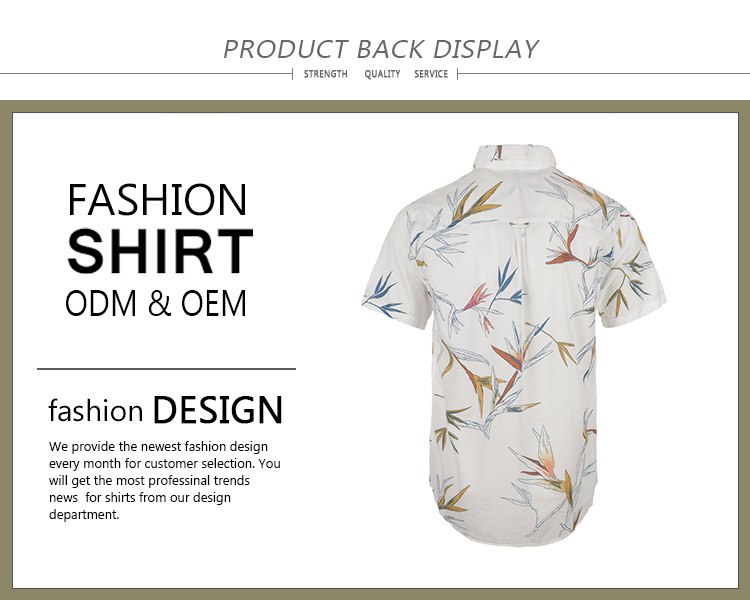 Latest design eco friendly cotton hawaiian gents fashion white beach shirts casual