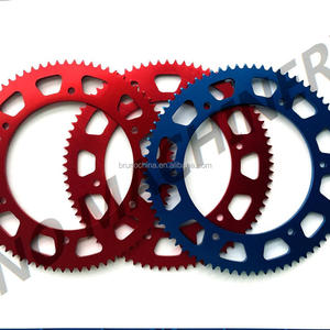 Aluminum 7075 alloy chain wheel sprocket 80 to 92 Teeth