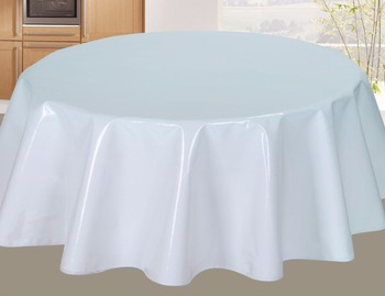 Eco Friendly White Plain Color Vinyl Table Cover Sheet Pvc Plastic