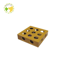 Yellow Wooden Box Intelligent Cat Toy