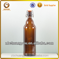 Hot sale beer glass bottle/1L swing top glass bottles/drinking bottle