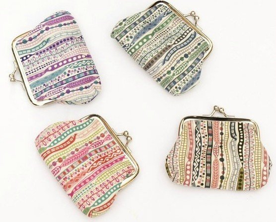 8ba7f09407 Get Quotations · Flower Mixed Colour Dotted Coin purse   Coin Wallet   Pouch  coin purse   Kiss lock