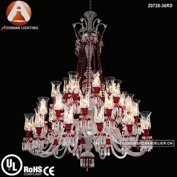 36 light baccarat red crystal chandelier for interior decoration 36 light baccarat red crystal chandelier for interior decoration aloadofball Images