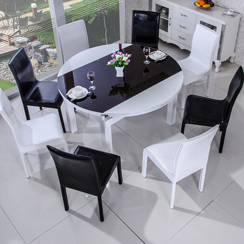 Tempered Glass Top Dining Table Set Extendable Induction Cooker Table Table View Glass Top Dining Table Set Liansheng Product Details From Foshan Liansheng Furniture Co Ltd On Alibaba Com