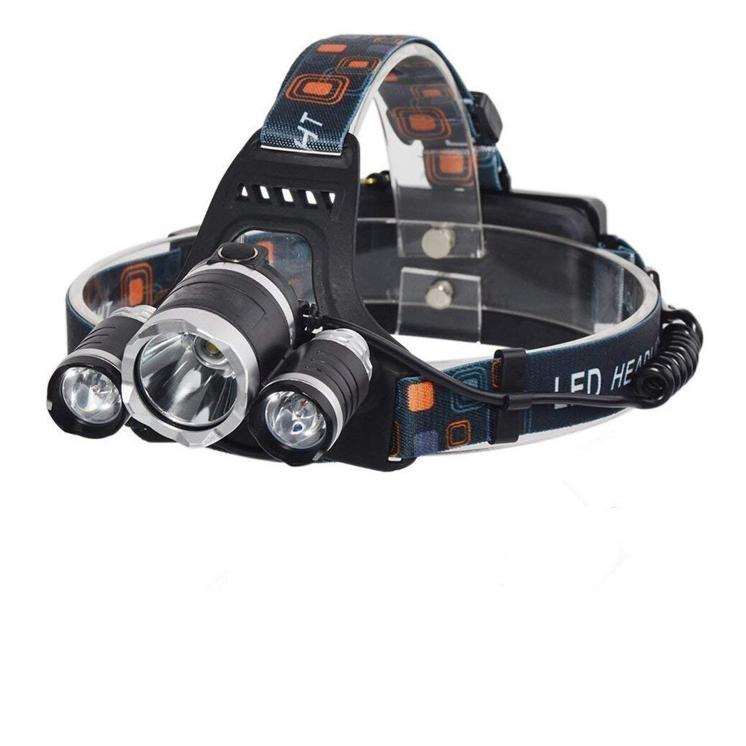 SuperShop New 3LED T6 LED 5000Lm Rechargeable Headlamp Headlight Head lamp + AC Charger