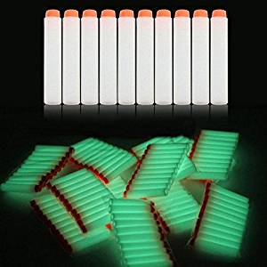 Nerf N-Strike Elite Compatible Darts / Bullets - GLOW IN THE DARK - Set of 100 - Closest to Nerf Brand - Fits ALL Nerf Guns Except Mega