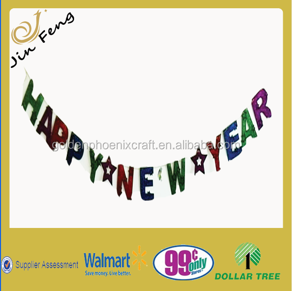 paper garlands for party decorations in new year