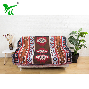 Low price beautiful design blanket and throw custom woven throw