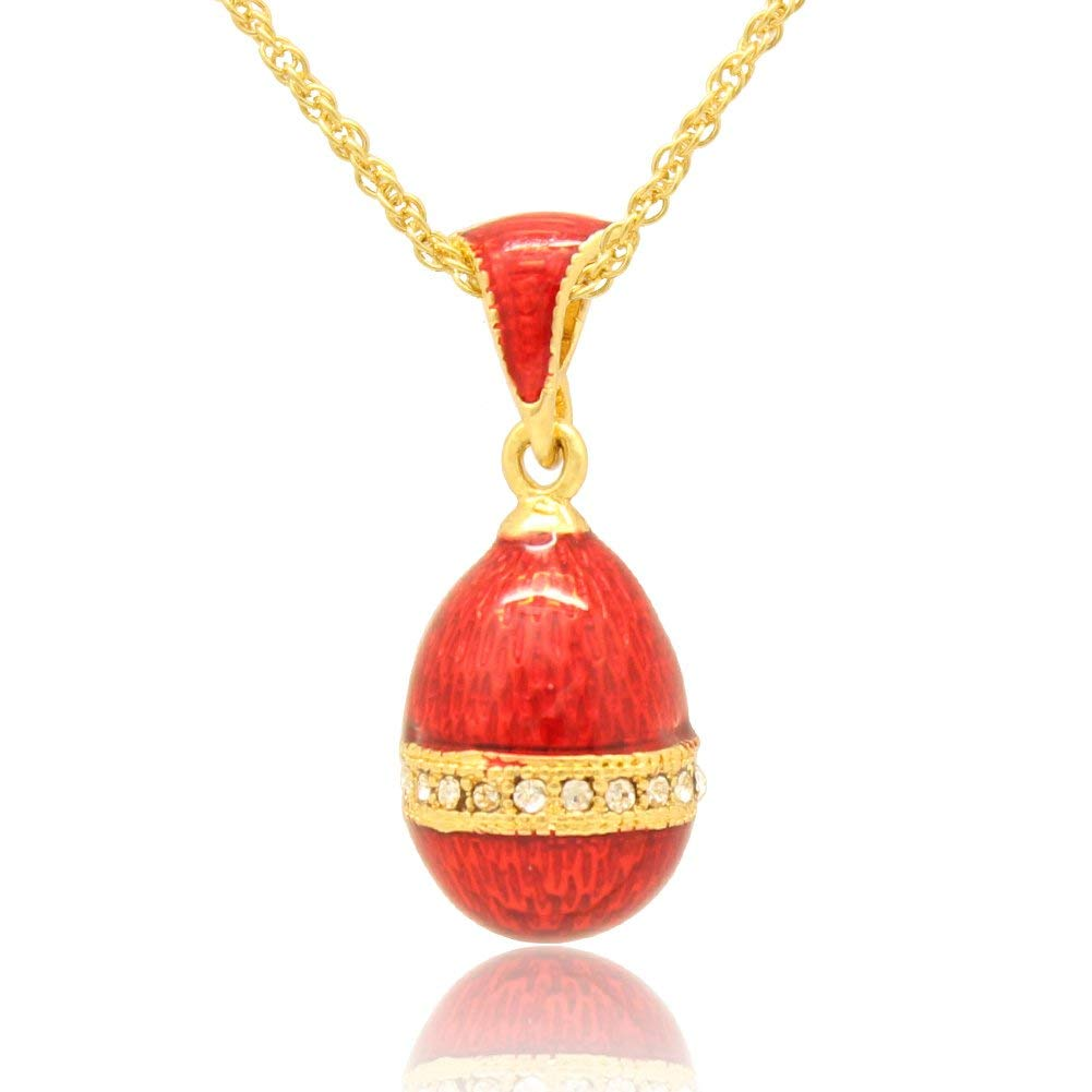 MYD Jewelry Hand Enamel Jewelry Faberge Egg Charm for Russian Style Necklace