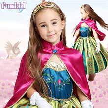 Wholesale frozen elsa and anna costume dress for girls