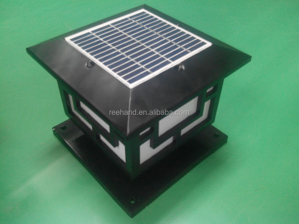 outdoor solar panel de luz led lmparas luces del punto del jardn patio camino cercas pilar