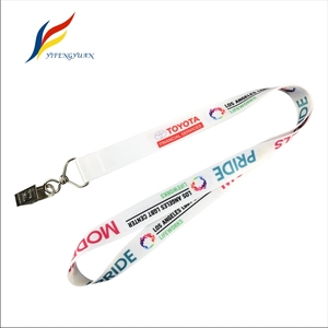 YIFY Eco Friendly Flat Polyester Heat Transfer Printed Polyester Id Badge Holder Sublimation Lanyard